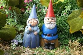 concrete gnomes garden gnome couple mr