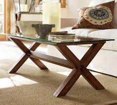 Ava Wood Coffee Table - Espresso stain - Pottery Barn
