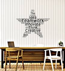 Amazon Com Teamwork Vinyl Wall Decal Office Study Decoration Star Words Cloud Stickers Mural Large Decor Ig5453 Home Kitchen
