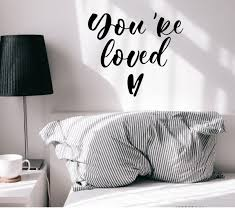Vinyl Wall Decal Lettering You Re Loved Amour Romantic Phrase Stickers Wallstickers4you