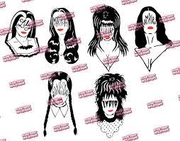 Lily Munster Morticia Addams Elvira Mistress Of The Dark Vampira Wednesday Addams Lydia Deetz Scream Queens Adhesive Vinyl Decal