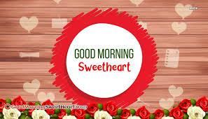 good morning sweetheart red rose