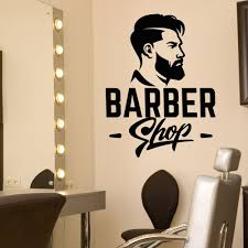 Barbershop Window Sign Hair Salon Window Decal Barber Shop Sign Business Office Industrial Retail Shop Fitting