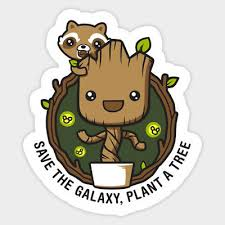 Guardian Of Galaxy I Am Groot Vinyl Graphic Decal Sticker For Laptops Wall Cars Ebay