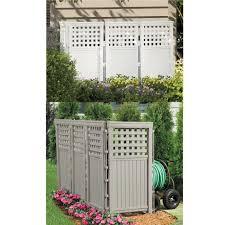 Lattice Privacy Screen Enclosure 4 Resin Fencing Panels Outdoor Trash Bin Fence For Sale Online Ebay