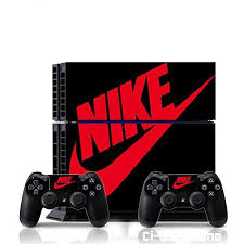 Amazon Com Ci Yu Online Vinyl Skin Ps4 Whole Body Vinyl Skin Sticker Decal Cover Nike Air Jordan 1 Retro Black Re Red Logo Playstation 4 Ps4 Black And Red