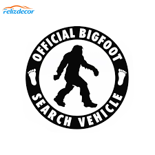 12 12cm Official Bigfoot Search Vehicle Car Sticker Vinyl Decal Sasquatch Car Truck Laptop Notebook Art Decor Pattern Sign L975 Car Stickers Aliexpress