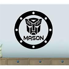 Amazon Com Bestpriceddecals Transformer Custom Name Children S Wall Decal 20 X 20 Home Kitchen