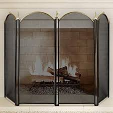 large gold fireplace screen 4 panel