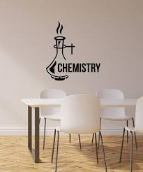 Vinyl Wall Decal Chemistry Lab Decoration School Classroom Science Art Wallstickers4you
