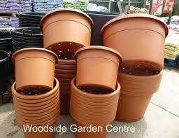 plastic terracotta pot