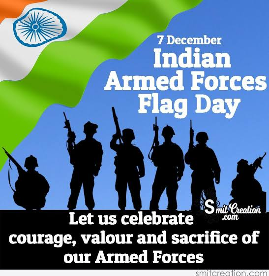 Image result for indian armed forces flag day""