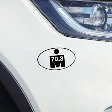 Yjzt 14 2 8 2cm Interesting Triathlon M Dot 70 3 Digital Car Sticker Accessories Vinyl Black Silver C12 0640 Aliexpress