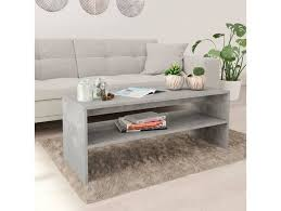 vidaxl couchtisch betongrau 100 40 40