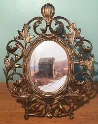 large oval antique photo frame large