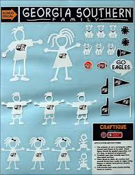 The University Store Family Stick People Car Decals