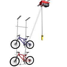 motorized horizontal double bike lift