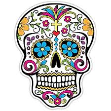 Amazon Com Osmdecals Sugar Skull Sticker Version 32 Day Of The Dead Vinyl Wall Home Decor Car Window Bumper Decal Sticker Automotive