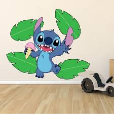 Design With Vinyl Lilo And Stitch Ice Cream Disney Character Wall Decal Wayfair