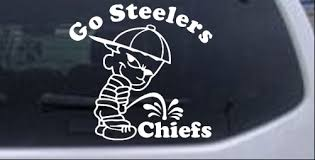 Go Steelers Pee On Chiefs Car Or Truck Window Decal Sticker Rad Dezigns