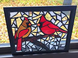 winter stained glass mosaic art