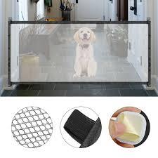 Mesh Pet Dog Gate Door 6ft Barrier Safe Guard Fence Enclosure Easy Install Ebay