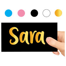 Twinkle Hands Personalized Name Decal For Water Bottle