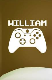 Video Game Custom Name Wall Decal 0306 Video Game Controller Res Wall Decal Studios Com