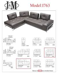 1763 premium italian leather sectional