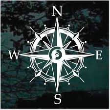 Nautical Compass Wind Rose Decals Window Stickers Decal Junky