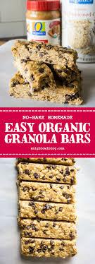 no bake homemade organic granola bars