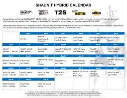 t25 calendar excel fresh workout