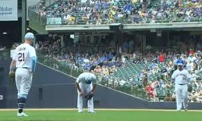 Brewers Pitcher Adrian Houser Vomited On The Mound During Today's Game