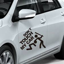 Don T Touch My Car Vinyl Decal Sticker Truck Car Window Door Laptop Black Funny Ebay