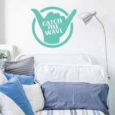 Surfing Wall Decor Hang Loose Decal Catch The Wave Vinyl Etsy