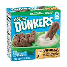 go gurt dunkers vanilla flavor yogurt