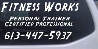 Fitness Works Trainer Car Or Truck Window Decal Sticker Rad Dezigns