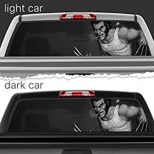 Amazon Com Wolverine Superhero Perforated Vinyl Decal Rear Window Car N661 Frst 14x53 Baby
