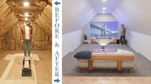 diy attic to 4k home theater renovation