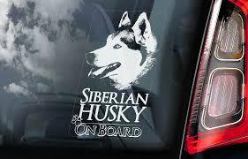 Siberian Husky Car Sticker Huskie Sled Dog Window Sign Bumper Decal Gift V01 Ebay