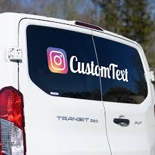 Custom Instagram Social Sticker Decal New