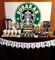 Starbucks Starbucks Cafe Dessert Bar Party Ideas Fiestas De