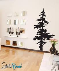 Vinyl Wall Decal Sticker Single Pine Tree 187 Stickerbrand