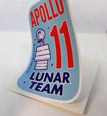 Vintage Style Sticker Space 1960 S Nasa Snoopy Apollo 11 Lunar Team Vinyl Decal Decals Stickers