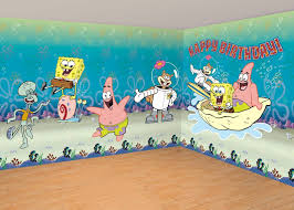 Spongebob Room Decor Ideas In 2020 Wall Painting Themed Kids Room Painting For Kids