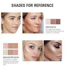 highlighter contour makeup palette