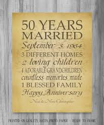 50th Anniversary Gifts 10x20 50th Wedding Anniversary Gifts For Parents 50 Anniversary Gift 50th Anniversary Gifts For Parents Home Living Home Decor
