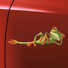 3d Funny Green Lying Frog Wall Truck Window Vinyl Decal Car Sticker Hot Auto Parts And Vehicles Car Truck Graphics Decals Magenta Cl