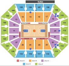 mohegan sun arena seating chart rows