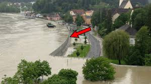 the mobile flood walls in austria keep